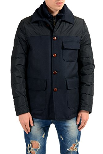 Moncler Men's Arsene Navy Blue Down Zip up Coat Jacket Sz 3 US M