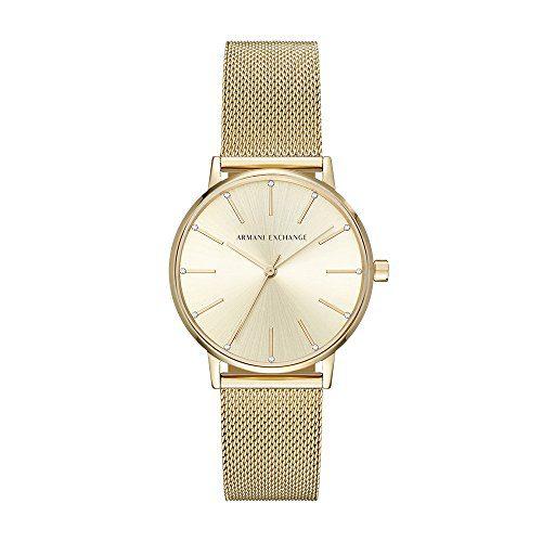 Armani Exchange Women's Dress Gold Watch