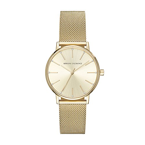 Armani Exchange Women's Dress Gold Watch