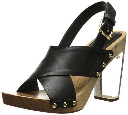 Trina Turk Women's Penney Dress Sandal, Black, 10 M US