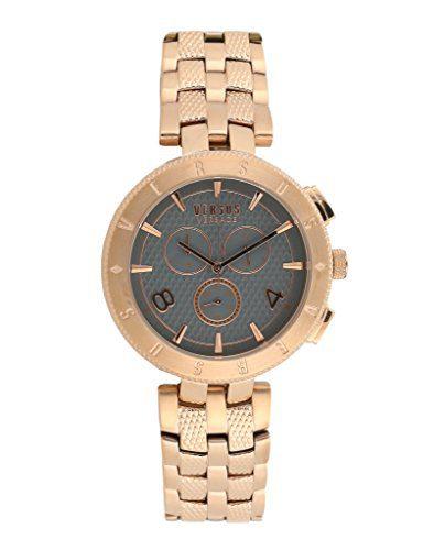 Versus By Versace Logo Gent Chrono Quartz Stainless Steel Watch