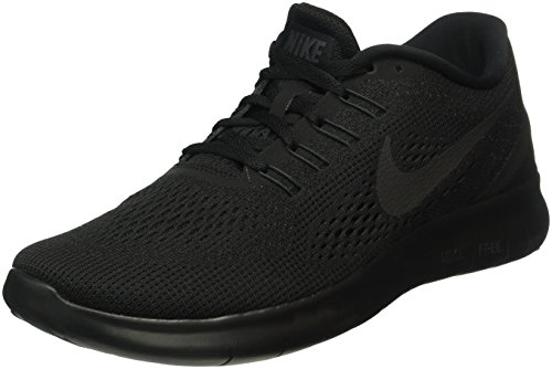 NIKE Mens Free RN Running Shoes Black/Black/Anthracite Size 11