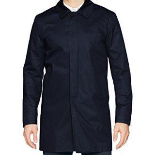 J.Lindeberg Men's Water Repellent Twill Coat, JL Navy, Small