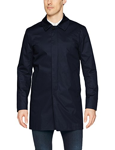 J.Lindeberg Men's Water Repellent Twill Coat, JL Navy, Small