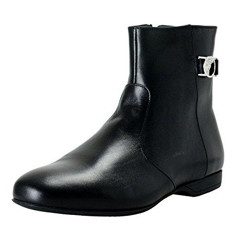 Versace Collection Men's Black Leather Ankle Boots Shoes Sz US 7 IT 40