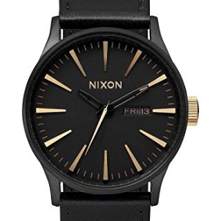 Nixon Men's Sentry Matte Black Gold Watch