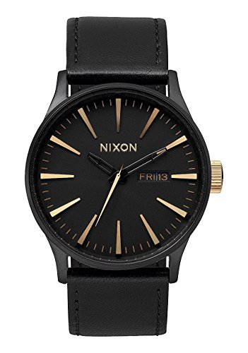 Nixon Men's Sentry Matte Black Gold Watch