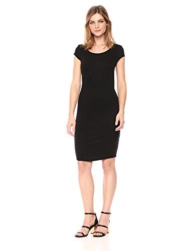 A|X Armani Exchange Women's Scoop Neck Slim Work Dress, Black, S