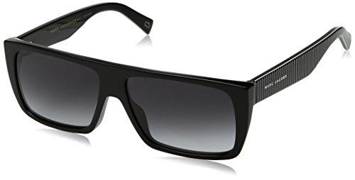 Marc Jacobs Rectangular Sunglasses, Black, 57 mm