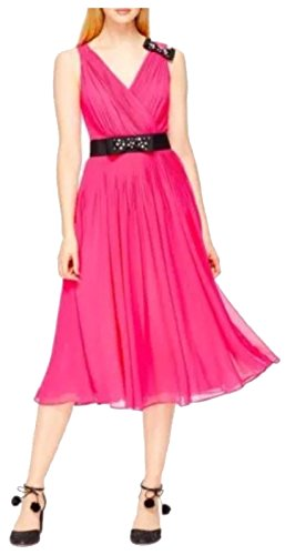 Kate Spade New York Pink Embellished Bow Dress 10