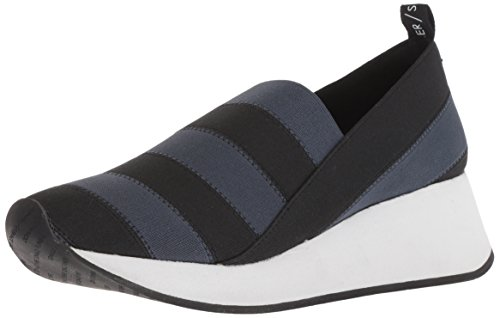 Donald J Pliner Women's Piper Sneaker, Black/Navy, 7 M US
