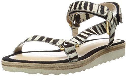 Trina Turk Women's Catalina Dress Sandal, Zebra Hair Calf/Ivory, 8.5 M US