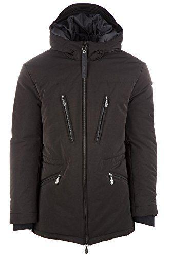Versace Jeans men's outerwear down jacket blouson tatt pl frosted regular black US size 48 (US 38) C5GOA904 OUP404
