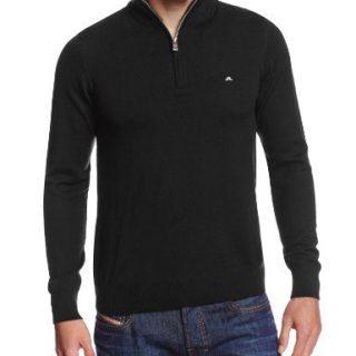 J.Lindeberg Men's Kian Tour Merino Sweater, black, Small