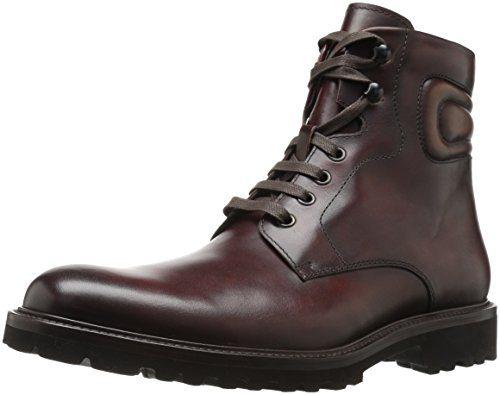 Magnanni Men's Wayde Engineer Boot, Mid Brown, 9.5 M US