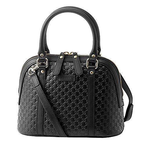 Gucci microguccissima bag black leather