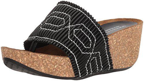 Donald J Pliner Women's Gess Slide Sandal, Black, 8 Medium US