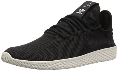 adidas Originals Men's PW HU Tennis Shoe, Black/Black/Chalk White, 11.5 M US