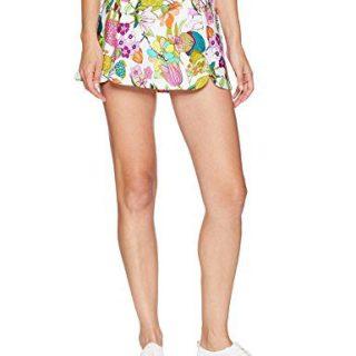 Trina Turk Recreation Women's Elastic Waist Sport Skirt, White, Medium
