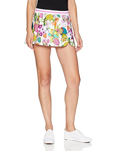 Trina Turk Recreation Women's Elastic Waist Sport Skirt, White, Medium