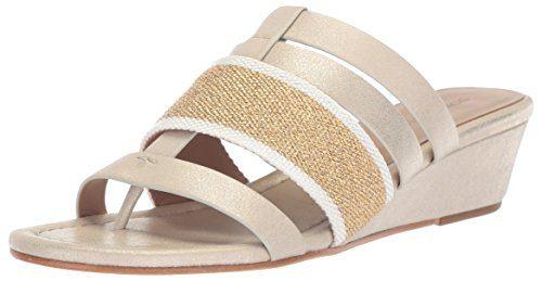 Donald J Pliner Women's Dara Wedge Sandal, Platino, 9 Medium US