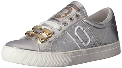 Marc Jacobs Women's Empire Chain Link Sneaker, Silver, 39 M EU (9 US)
