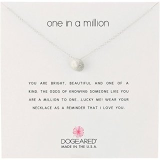 """Dogeared Reminders-One in a Million Sterling Silver Sand Dollar Charm Necklace, 16"""" +2"""" Extender"""