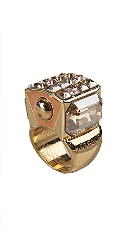 Versace New Runway Collection Pink Cocktail Ring (6.5) [Jewelry]