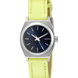 Nixon Women's Small Time-Teller Leather Analog Display Quartz Watch