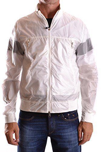 Moncler Men's White Polyamide Outerwear Jacket