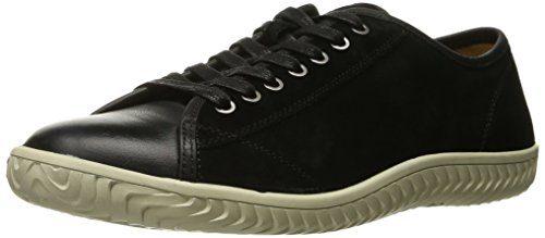 John Varvatos Men's Hattan Low Top Fashion Sneaker, Black, 8.5 M US