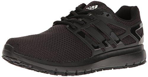adidas Men's Energy Cloud WTC m Running Shoe, Black/Black/White, 10 Medium US