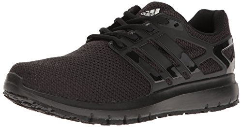 adidas Men's Energy Cloud WTC m Running Shoe, Black/Black/White, 10 Medium US