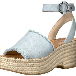 Dolce Vita Women's Lesly Espadrille Wedge Sandal, Light Blue Denim, 10 M US
