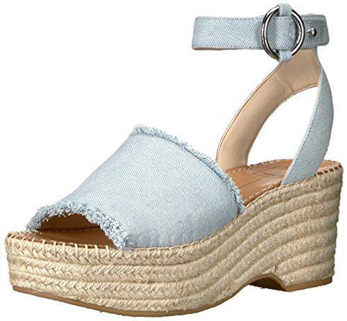 Dolce Vita Women's Lesly Espadrille Wedge Sandal, Light Blue Denim, 10 M US