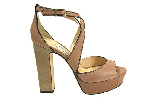 JIMMY CHOO Women's April120o Beige Leather Sandals