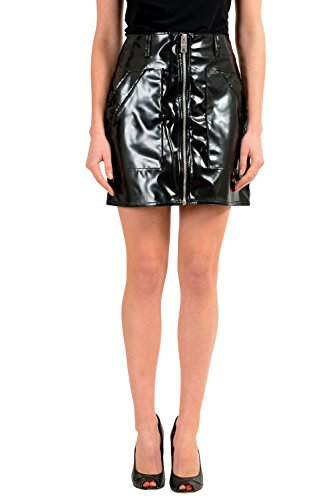Versace Versus Black Full Zip Women's Mini Skirt US XS IT 38