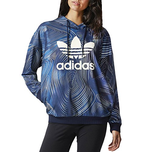 adidas Originals Women's ' Geology Oversize Hoody 5 Blue