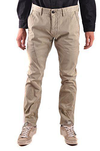 Stone Island Men's Beige Cotton Pants