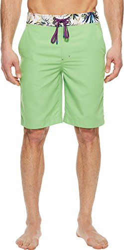 Robert Graham Men's Dos Rios Woven Swim Board Short, Green, 32