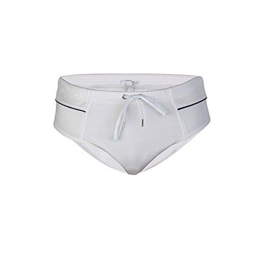 Just Cavalli Men White Beach & Pool Swim Briefs Lycra Swimsuit XL US EU 54