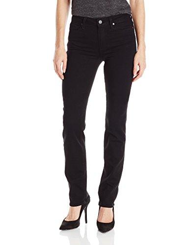 PAIGE Women's Hoxton Straight Jeans-Black Shadow, Black Shadow, 28