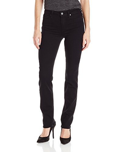 PAIGE Women's Hoxton Straight Jeans-Black Shadow, Black Shadow, 28