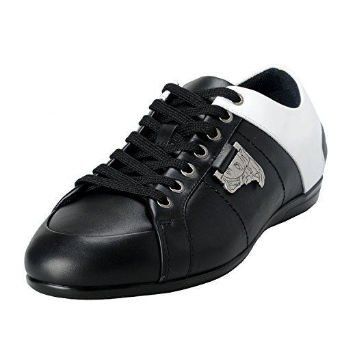 Versace Collection Men's Twotone Leather Fashion Sneakers Shoes US 8 IT 41;
