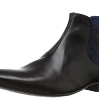 Ted Baker Men's Hourb 2 Chelsea Boot, Black Leather, 7.5 M US