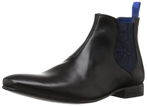 Ted Baker Men's Hourb 2 Chelsea Boot, Black Leather, 7.5 M US