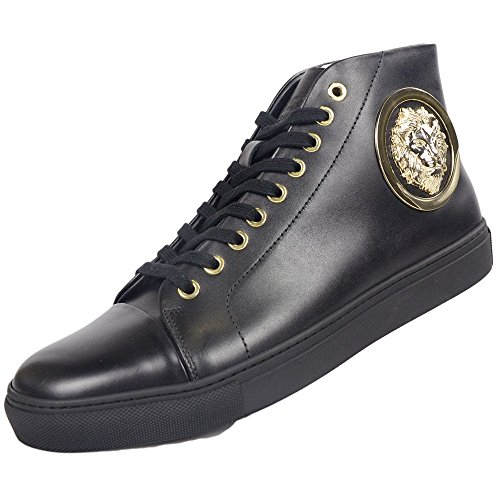 Versace Versus Leather High Top Black Trainer 11