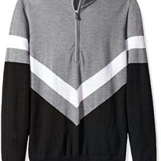 J.Lindeberg Men's Marten Merino Sweater, Black, M