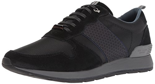 Ted Baker Men's Hebey Sneaker, Black, 9.5 M US