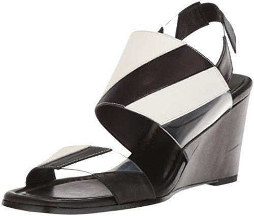 Donald J Pliner Women's Levie Wedge Sandal, Black, 8.5 Medium US